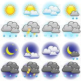 Weather icons royalty free illustration
