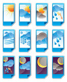 Weather icons. Weather, cloud and sky icons - vector icon set Royalty Free Stock Photo