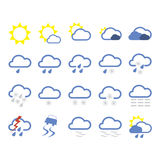 Weather icons. Set (Everything depicted within this illustration is designed by me - Bsilvia
