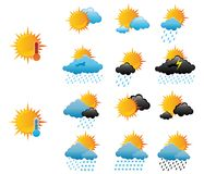 Weather icons Stock Photography