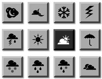 Weather icons. Stock Photography