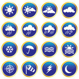 Weather Icons. Vector collection of weather icons Stock Photos