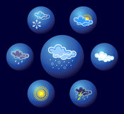 Weather icons. Royalty Free Stock Photos
