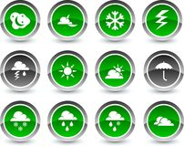 Weather icons. Royalty Free Stock Photography