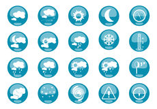 Weather Icons. Weather and meteo 20 icons Royalty Free Stock Photos