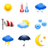 Weather icons. stock illustration