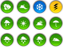 Weather icons. Royalty Free Stock Photo
