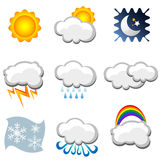 Weather icons Royalty Free Stock Photo