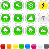 Weather icons. Stock Images