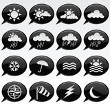 Weather Icons. Collection of various weather icons Royalty Free Stock Photography