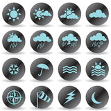 Weather Icons. Set of black weather icons Royalty Free Stock Images