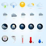Weather icons. Set of  weather icons Royalty Free Stock Photos