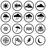 Weather Icons. Set of various weather icons Royalty Free Stock Photography