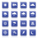 Weather Icons. Set of various weather icons Royalty Free Stock Photos