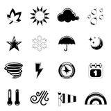 Weather icons. Set of weather icon illustration vector Stock Photos