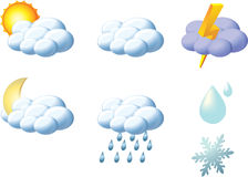 Weather icons Stock Image