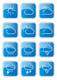 Weather icons. A set of weather icons Royalty Free Stock Images
