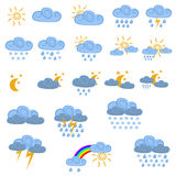 Weather icons. Collection of colorful weather icons Stock Image