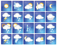 Weather icons. Set of different weather icons - additional ai and eps format available on request Royalty Free Stock Photos