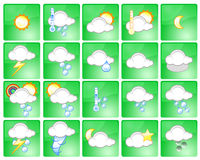Weather icons. Set of different weather icons - additional ai and eps format available on request Royalty Free Stock Image