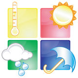 Weather icons. Set of different weather icons - additional ai and eps format available on request Royalty Free Stock Images