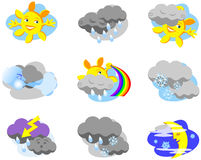 Weather icons. For rainy and sunny days Stock Image