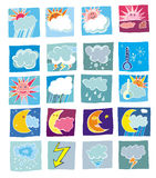 Weather icons. Weather colorful icons. To see all icons, please visit my gallery Royalty Free Stock Photos