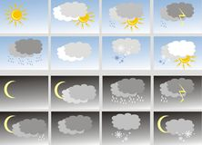 Weather. Icons Stock Photography