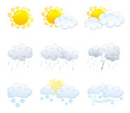 Weather icons. As symbols weather forecast