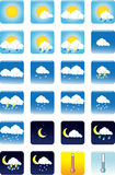 Weather icons. Vector illustration picture