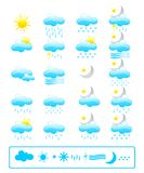 Weather icons. Vector collection of weather icon set. Great for meteorology and nature purposes Royalty Free Stock Image