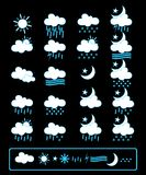 Weather icons. Vector collection of weather icon set. Great for meteorology and nature purposes Royalty Free Stock Photo