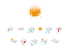 Weather Icons. Vector illustration � set of elegant Weather Icons for all types of weather Vector Illustration