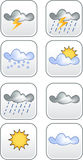 Weather Icons. Various weather icon, up to 8 icons in this set Stock Images