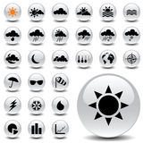 Weather icons. Vector icon collection for meteorology Stock Image