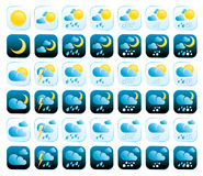 Weather Icons. Set of vector weather icons Stock Illustration