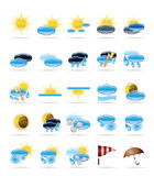 Weather icons. Different Condition Weather icons - Vector Icon Set Royalty Free Stock Photography