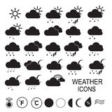 Weather icons. Additional part. Vector. Stock Images
