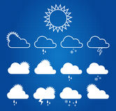 Weather Icons On Blueprint Stock Photos