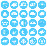 Weather Icons, Climate, Weather Forecast, Seasons Royalty Free Stock Images