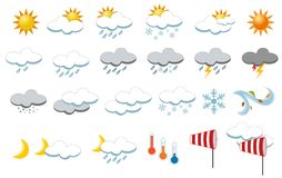 Weather Icons Collection stock photography