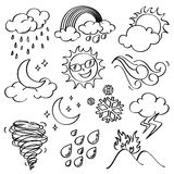 Weather Icons Collection Royalty Free Stock Photos