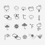 Weather Icons. Collection vector set Stock Images