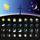 Weather icons collections Stock Photography