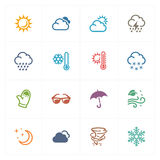 Weather Icons - Colored Series Stock Image