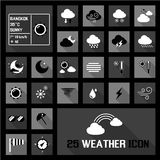 Weather icons concepts Stock Photo