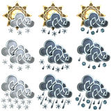Weather Icons - 2 Royalty Free Stock Photography
