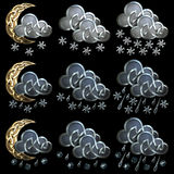 Weather icons - 4 Stock Photo