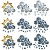 Weather Icons - 2 Stock Photo