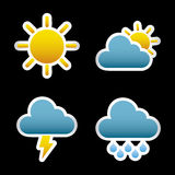Weather icons drawing Stock Photography